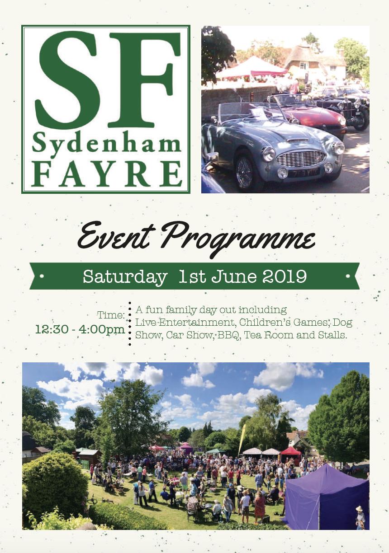 Sydenham Fayre 2019 Programme